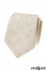 Smotanová kravata s Paisley vzorom