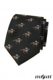 Čierna kravata dostihový kôň