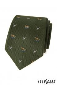 Zelená poľovnícka kravata