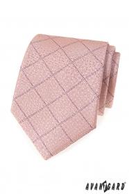 Púdrová kravata s lila prúžkami