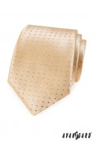 Zlatá kravata s bodkami