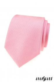 Ružová štruktúrovaná pánska kravata