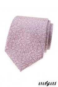 Ružová kravata s drobným vzorom