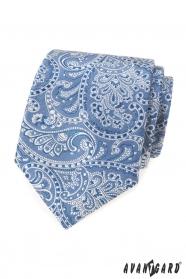 Svetlo modrá kravata s paisley motívom