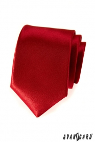 Hladká pánska kravata červená