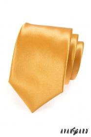 Pánska kravata LUX v zlatej farbe