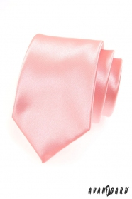 Pánska ružová hladká kravata