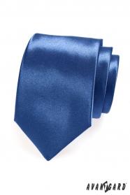Lesklá kravata kráľovsky modrá