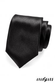 Klasická pánska kravata čierna lesk