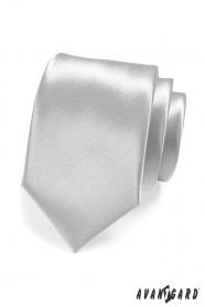 Pánska kravata LUX - Strieborná