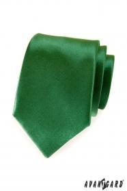 Zelená jednofarebná kravata Avantgard