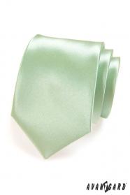 Pánska kravata LUX - Svetlo zelená lesk