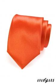 Oranžová jednofarebná kravata