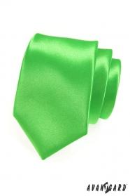 Pánska kravata LUX - Zelená lesk