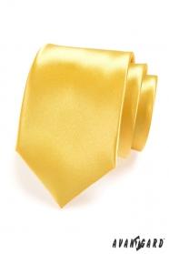Pánska kravata LUX - Žltá lesk