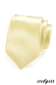 Kravata žltá hladká