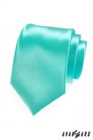 Pánska kravata LUX mätová lesk