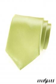 Pánska kravata limetková s leskom