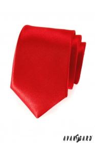 Hladká červená kravata pre pánov