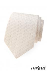 Jemne vzorovaná kravata v odtieni Ivory