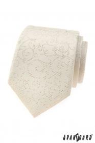Smotanová pánska kravata Avantgard so vzorom