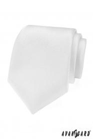 Biela slávnostná kravata štruktúrovaná