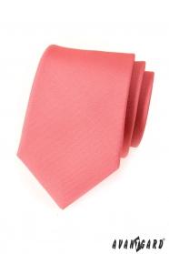 Pánska kravata ružová mat jednofarebná