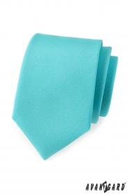 Pánska kravata Tyrkysová mat