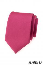 Pánska kravata fuchsiová v matnom