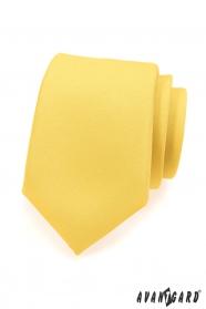 Matná žltá kravata