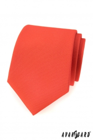 Matná tmavo oranžová kravata