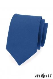 Modrá pánska kravata v matnom prevedení
