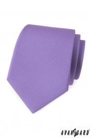 Svetlo fialová matná kravata