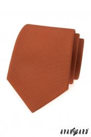 Škoricovo hnedá pánska kravata