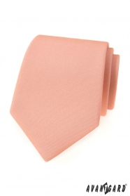 Lososovo ružová matná kravata