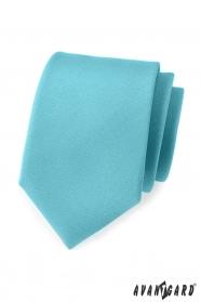 Matne tyrkysová pánska kravata