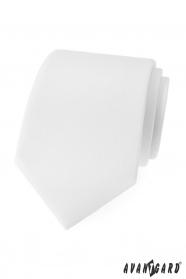 Matná biela kravata