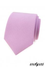 Matná kravata vo farbe lila