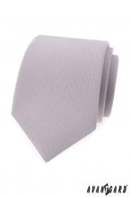 Svetlo šedá pánska kravata