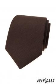 Pánska matne hnedá kravata