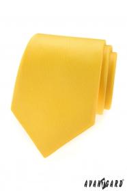 Kriklavo žltá matná pánska kravata