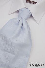 Francúzska kravata svetlo modrá jemný dekór