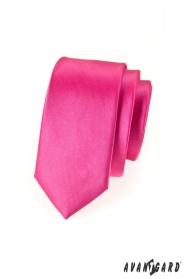 Pánska kravata SLIM LUX - Fuchsiová lesk