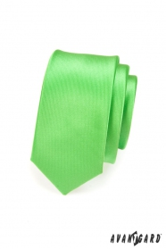 Pánska kravata SLIM LUX - Zelená lesk