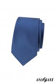 Tmavo modrá pánska slim kravata