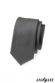 Grafitovo šedá slim kravata