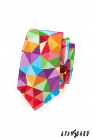 Farebná kravata SLIM