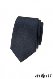 Štruktúrovaná slim kravata tmavěmodrá