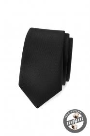 Čierna, matná kravata Avantgard slim