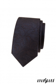 Hnedá, štrukturovaná kravata s Paisley vzorom